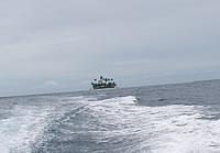 遠ざかるジープ島